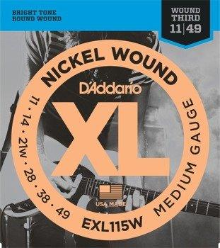 struny do gitary elektrycznej D'ADDARIO EXL115W /011-049/