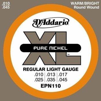 struny do gitary elektrycznej D'ADDARIO XL Pure Nickel EPN110 /010-045/