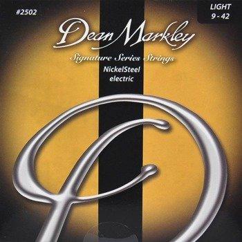 struny do gitary elektrycznej DEAN MARKLEY 2502 NickelSteel Light /009-042/