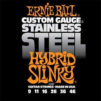 struny do gitary elektrycznej ERNIE BALL EB2247 Slinky Hybrid /009-046/