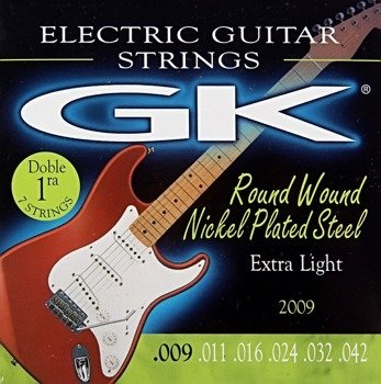 struny do gitary elektrycznej MEDINA GK Nickel Plated Extra Light /009-042/