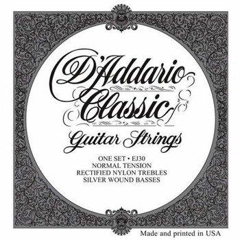 struny do gitary klasycznej D'ADDARIO - CLASSIC EJ30