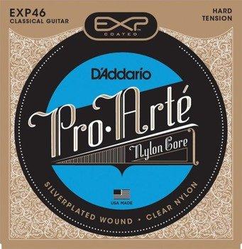 struny do gitary klasycznej D'ADDARIO EXP46 EXP CLASSICAL, twardy naciąg /028-046/