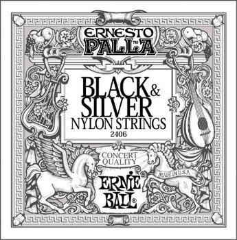 struny do gitary klasycznej ERNIE BALL ERNESTO PALLA Black Nylon, Normal Tension EB2406 /028-042/