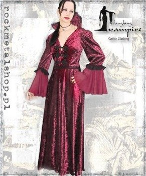 suknia VICTORIA LONG BURGUND [GT336] Laughing Vampire