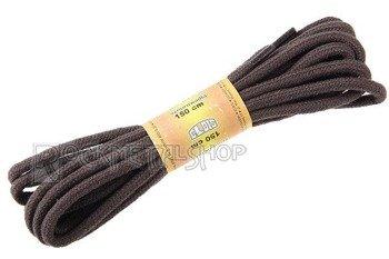 sznurowadła okrągłe, kolor brązowy, dł. 150 cm (150)