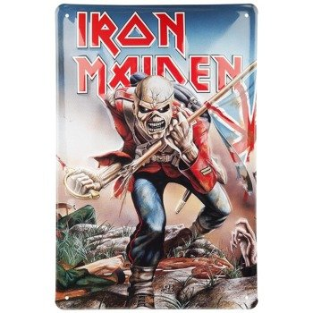 tabliczka z metalu IRON MAIDEN - THE TROOPER