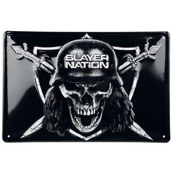 tabliczka z metalu SLAYER - SLAYER NATION
