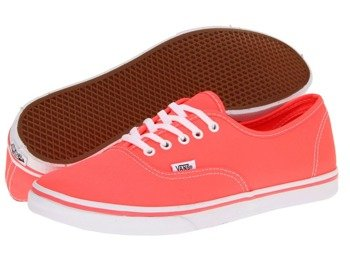 trampki damskie VANS  - AUTHENTIC LO PRO NEON/CORAL