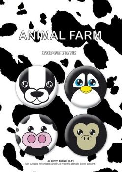 zestaw 4 przypinek ANIMAL FARM