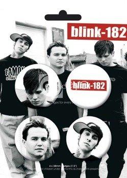 zestaw 4 przypinek BLINK 182