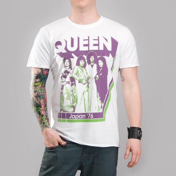 Ładowanie zdjęcia koszulka QUEEN - JAPAN '76 biała