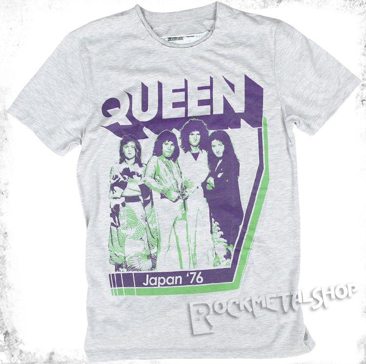Ładowanie zdjęcia koszulka QUEEN - JAPAN '76 szary melanż