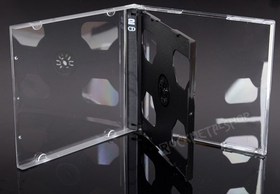 ETUI CD-2 BOX CZARNE NA DWIE PŁYTY CD