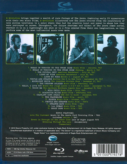 THE DOORS: R-EVOLUTION (BLU-RAY)