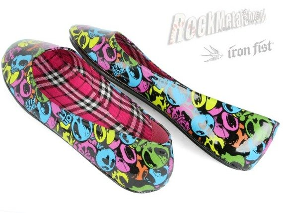 balerinki IRON FIST (99 Drop Dead Ballet Flat)
