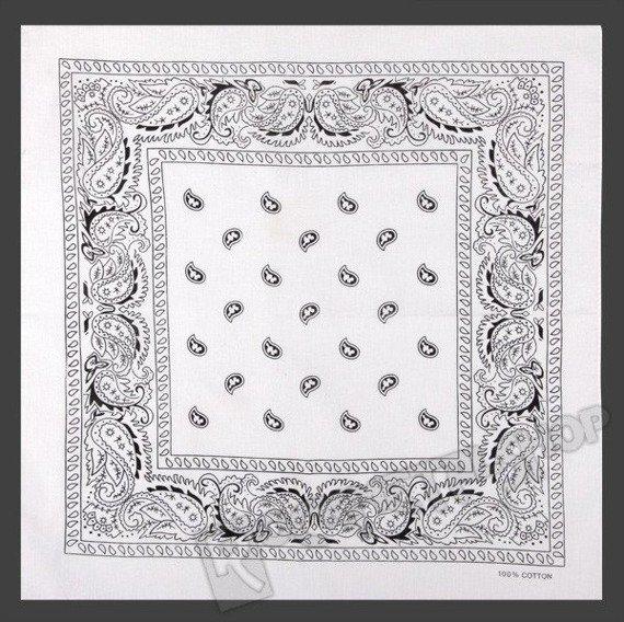 bandana white/black