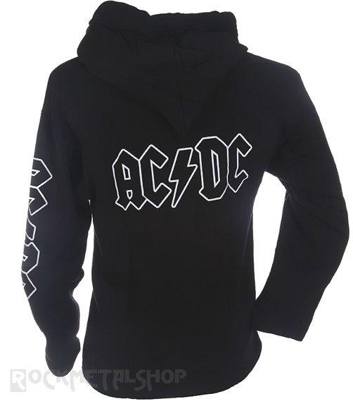 bluza AC/DC - LOGO czarna, z kapturem
