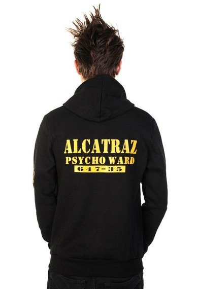 bluza BANNED - ALCATRAZ, rozpinana z kapturem