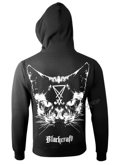 bluza BLACK CRAFT - LUCIFER THE CAT rozpinana, z kapturem