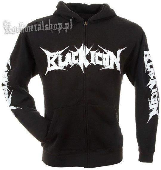 bluza BLACK ICON - DINNER czarna, rozpinana z kapturem (HZICON011)