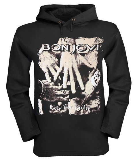 bluza BON JOVI KEEP THE FAITH czarna z kapturem