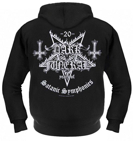 bluza DARK FUNERAL - 20 YEARS OF SATANIC SYMPHONIES, rozpinana z kapturem