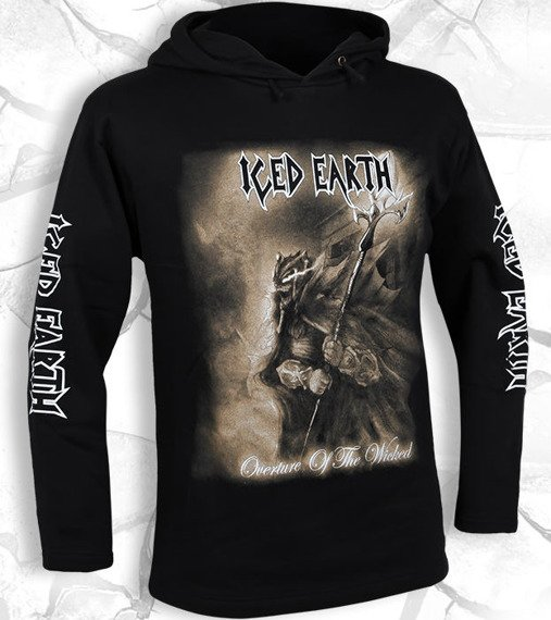 bluza ICED EARTH - OVERTURE OF THE WICKED czarna, z kapturem