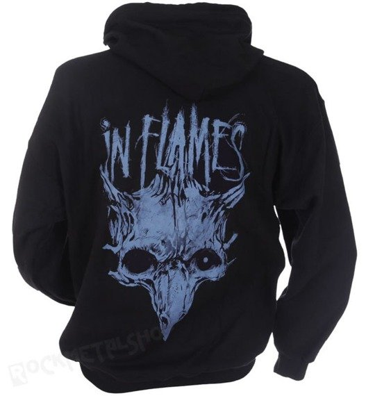 bluza IN FLAMES - BLUE TRIPLE JESTER rozpinana, z kapturem