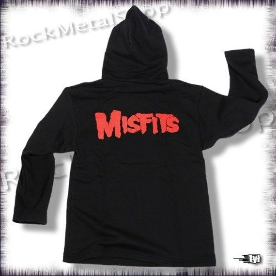 bluza MISFITS, czarna z kapturem