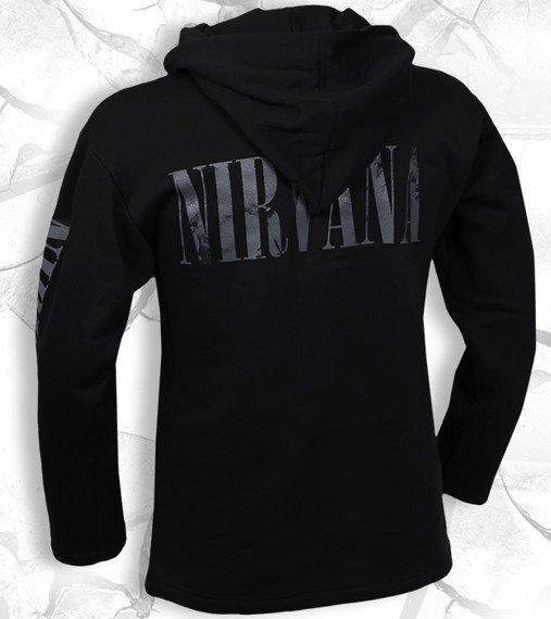 bluza NIRVANA - SMILEY czarna, z kapturem