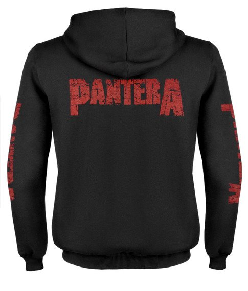 bluza PANTERA - MOUTH FOR WAR rozpinana, z kapturem