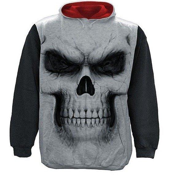 bluza SHADOW MASTER czarno-szara, z kapturem