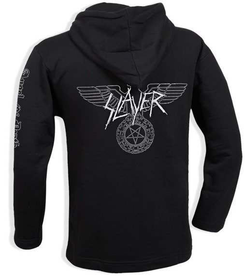 bluza SLAYER - ANGEL OF DEATH czarna, z kapturem
