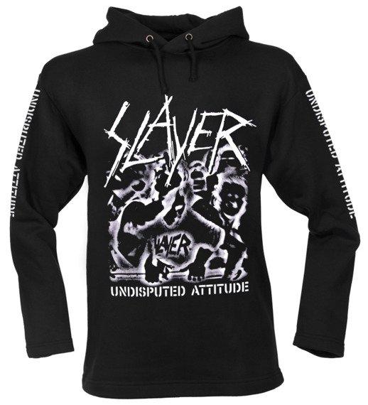 bluza SLAYER - UNDISPUTED ATTITUDE czarna, z kapturem