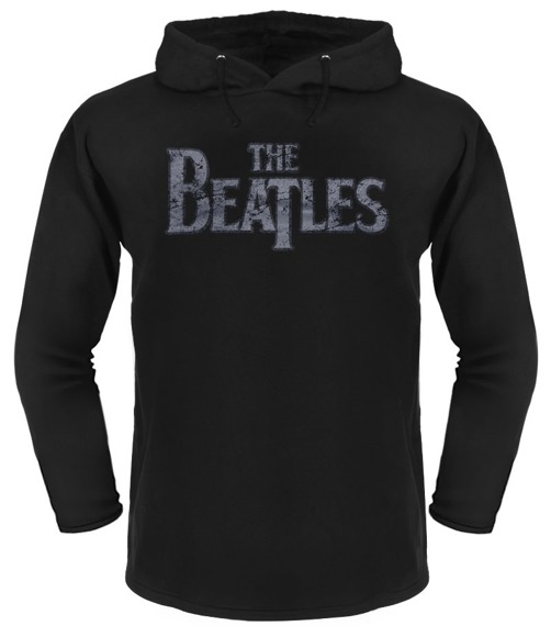 bluza THE BEATLES czarna, z kapturem
