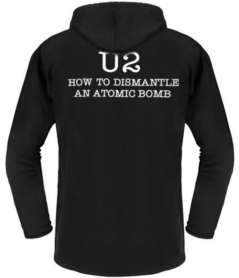 bluza U2 - HOW TO DISMANTLE AN ATOMIC BOMB czarna z kapturem