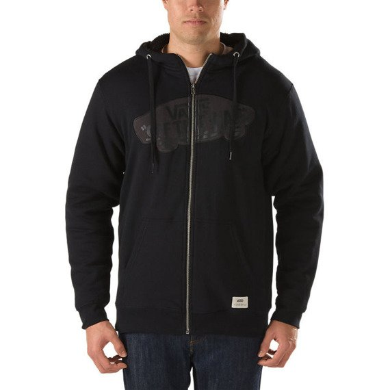 bluza VANS - HESSEL BLACK rozpinana, zimowa