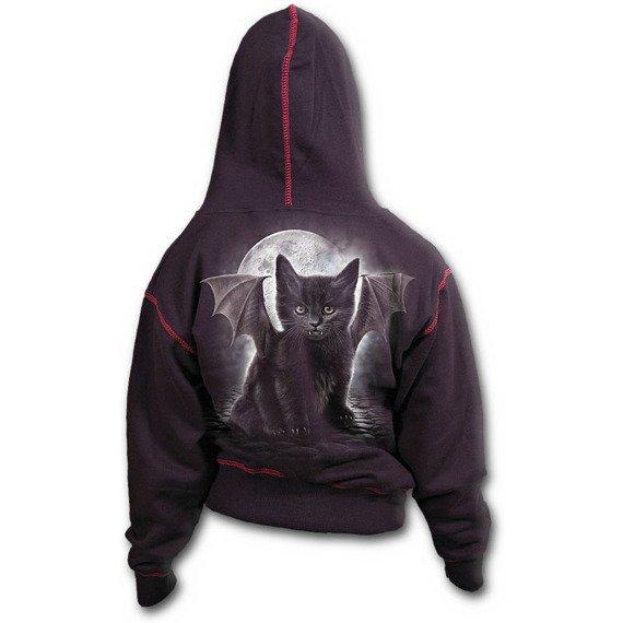 bluza damska BAT CAT, rozpinana z kapturem