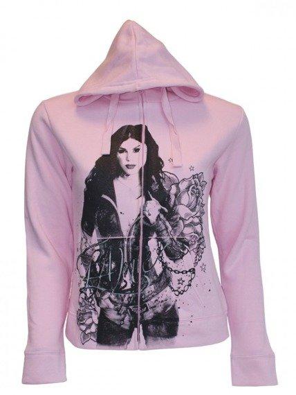 bluza damska rozpinana LA INK - PINK KAT / FLOWERS (HD330310LIK)