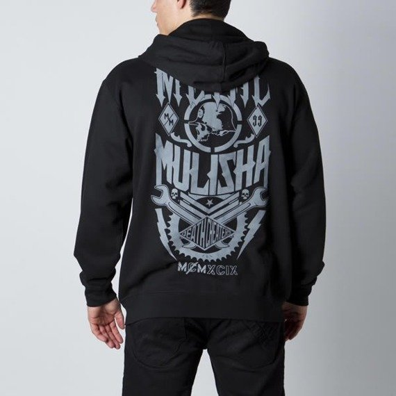 bluza rozpinana z kapturem METAL MULISHA - WAGE czarna
