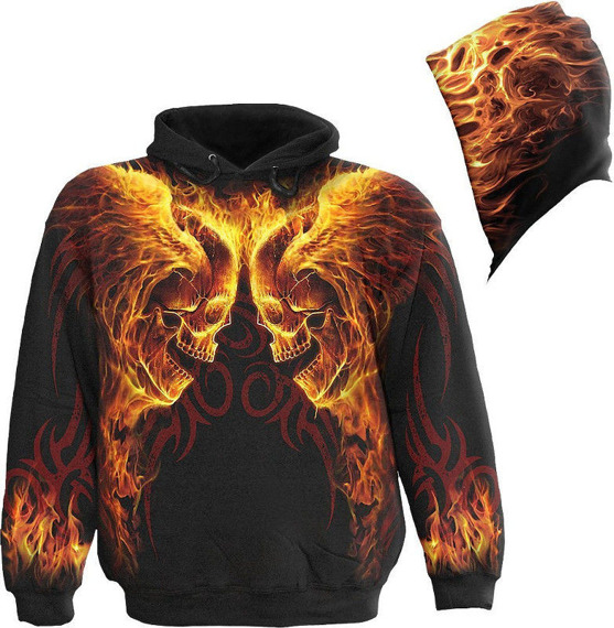 bluza z kapturem BURN IN HELL