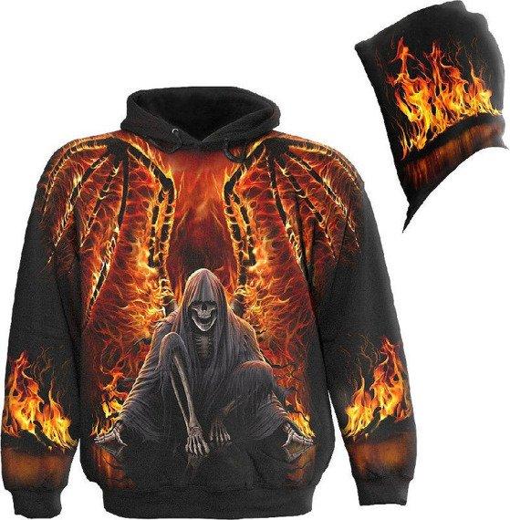 bluza z kapturem FLAMING DEATH