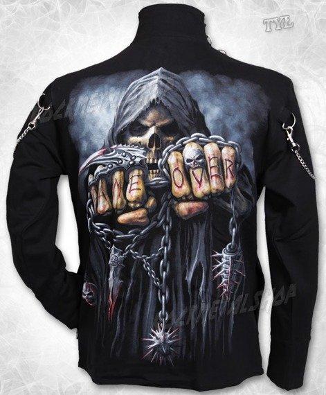 bluza ze stójką GAME OVER czarna