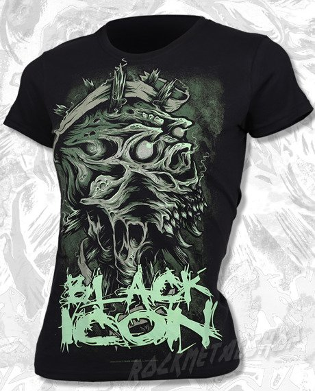 bluzka damska BLACK ICON - CHAOTIC SKULL (DICON009)