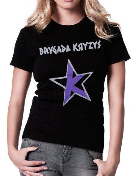 bluzka damska BRYGADA KRYZYS - GWIAZDA szaro-fioletowa