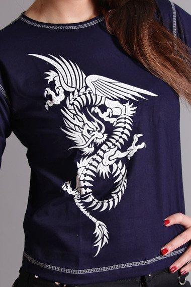 bluzka damska CHINESE DRAGON długi rękaw
