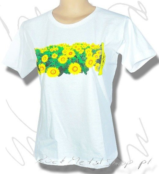 bluzka damska FLOWERS biała