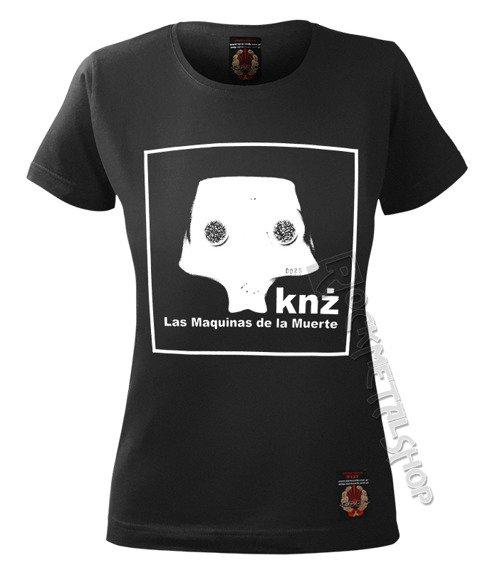 bluzka damska KAZIK NA ŻYWO, KNŻ - LAS MAQUINAS DE LA MUERTE czarna