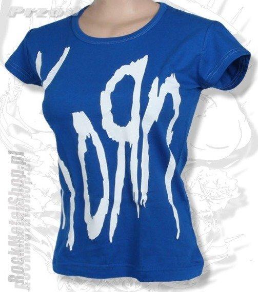 bluzka damska KORN - LOGO niebieska